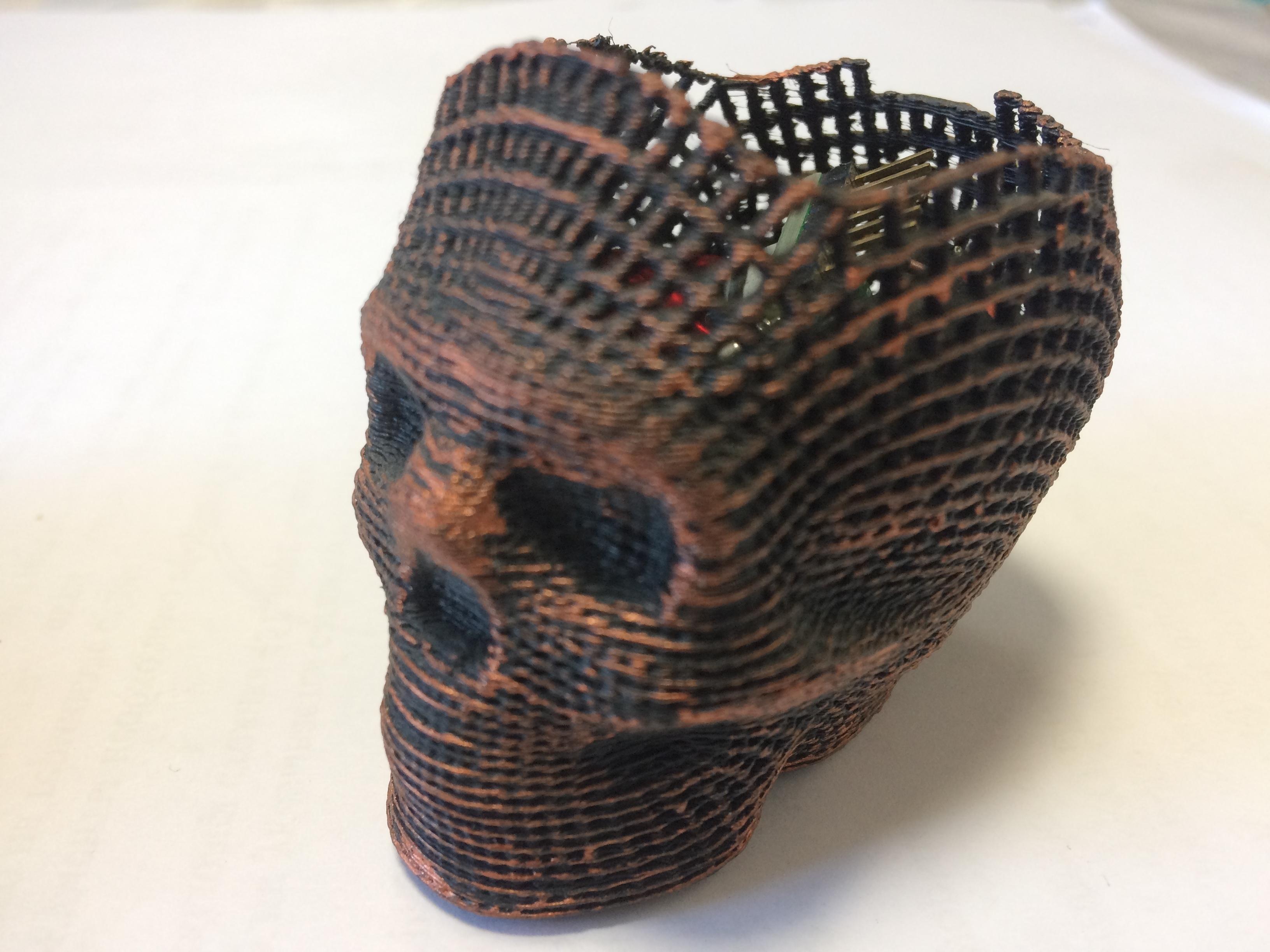 IMG_0745.JPG Download STL file Skull Card, Coin Holder • 3D print model, gharadze