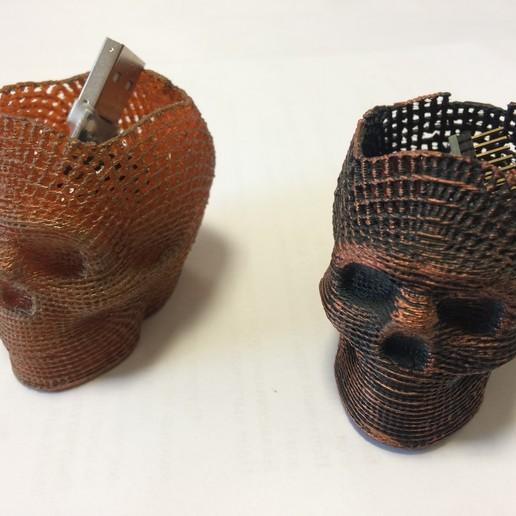 IMG_0743.JPG Download STL file Skull Card, Coin Holder • 3D print model, gharadze