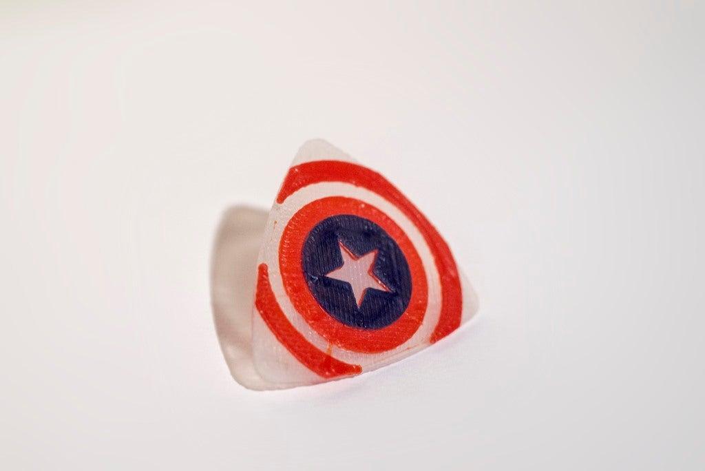 _IAN5548_display_large.jpg Télécharger fichier STL gratuit Plectre de guitare Captain America • Plan à imprimer en 3D, Absolute3D