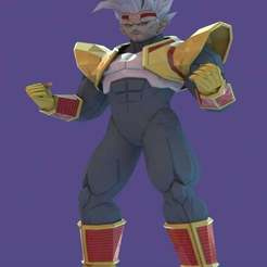 Download free 3D printing templates Baby Vegeta, Absolute3D