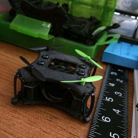 Free 3D printing files Drone -Nanno (Experimental) 6mm Motors ・ Cults