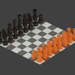 Download free 3D model Simple Chess Set, Absolute3D