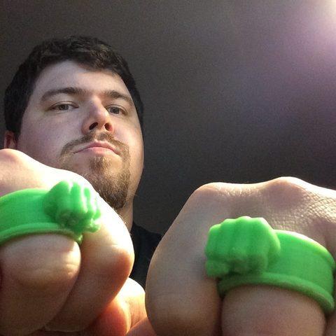 Download free 3D printing designs Hulk Rings, Absolute3D