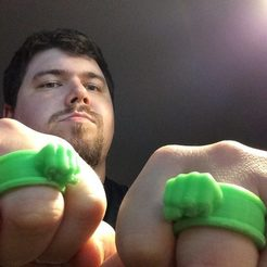 Download free 3D printing designs Hulk Rings, Absolute3D