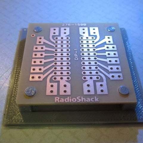 Télécharger plan imprimante 3D gatuit Support de circuit imprimé Radioshack, Absolute3D