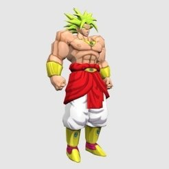 Broly_display_large.jpg Télécharger fichier STL gratuit Broly Dragon Ball Z • Plan pour impression 3D, Absolute3D
