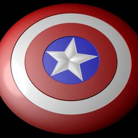 Download free 3D printing models Captain america shield (Fully detailed), Absolute3D
