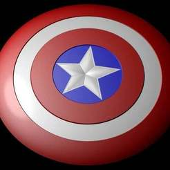 Download free STL file Captain america shield (Fully detailed) • 3D print model, Absolute3D