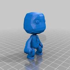 Download free 3D printing templates Sack Boy Little Big Planet, Absolute3D
