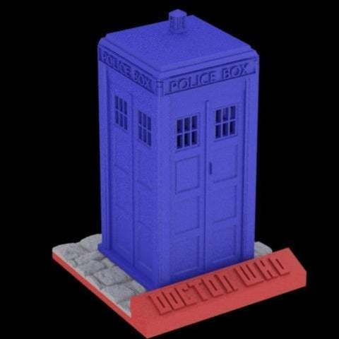 Download free 3D printer templates Tardis sliced with stand, Absolute3D