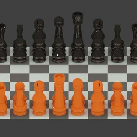16dbca4e77c26186b8dec54aab5e862e_display_large.jpg Download free STL file Simple Chess Set • Model to 3D print, Absolute3D
