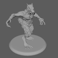 Download 3D printer templates Werewolf Miniature, 3DRob
