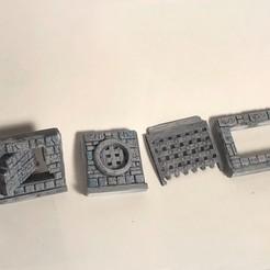 DungeonKit_SecretWalls.jpg Télécharger fichier OBJ DnD Donjon Murs secrets • Objet imprimable en 3D, 3DRob