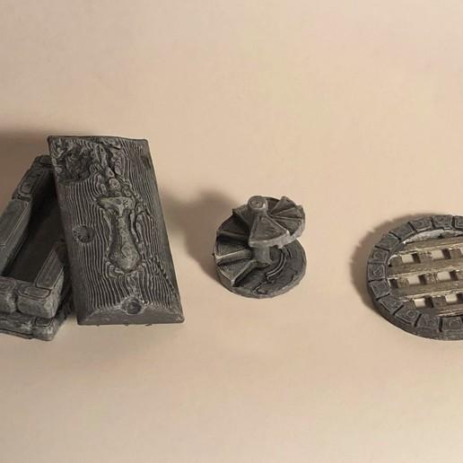 Télécharger STL Accessoires en pierre supplémentaires, 3DRob