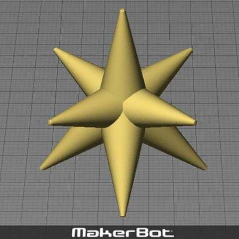 cstar_display_large.jpg Download free STL file Christmas Star - For the top of your Christmas Tree! • 3D printer template, Muzz64