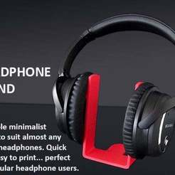 Free 3D printer designs Universal Headphone Stand, Muzz64