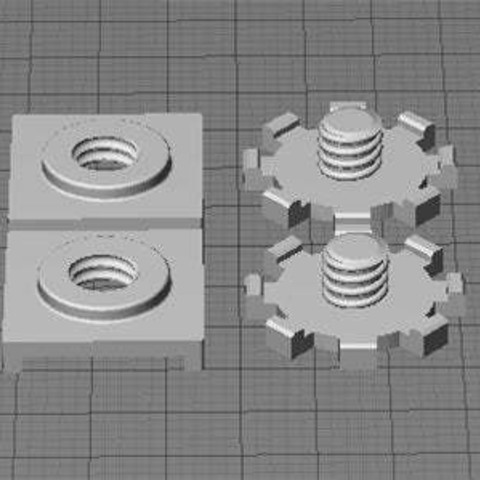 Download free 3D printer files Replicator 2 Build Plate Stabilzers, Muzz64