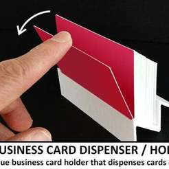 Download free 3D printing designs Bsiness Card Dispenser / Holder, Muzz64