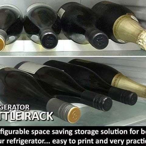 Télécharger fichier STL gratuit Range-bouteilles (pour utilisation dans les réfrigérateurs), Muzz64