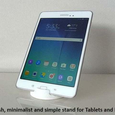 2373466e6609cb9ac11e39dd008a2209_display_large.jpg Télécharger fichier STL gratuit Tablette / Support Téléphone • Modèle à imprimer en 3D, Muzz64