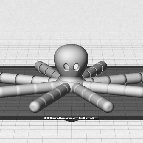 octapus-1_display_large.jpg Download free STL file Octopus - with moving tentacles! • 3D printable object, Muzz64