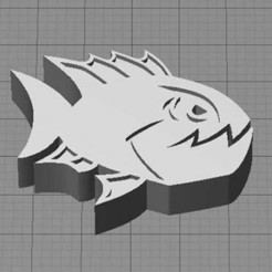 Download free STL file Angry Fish • Object to 3D print, Muzz64