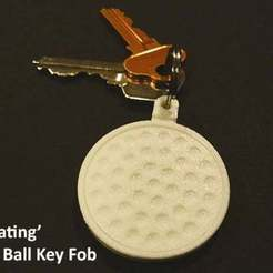 Download free 3D printing designs 'Rotating' Golf Ball Key Fob, Muzz64