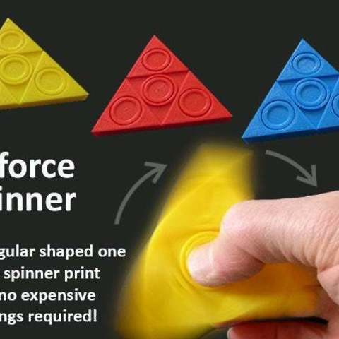 Download free 3D printing files Triforce Fidget Spinner, Muzz64