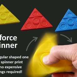 a0d23b52978ffa8a1b7776d64f336b36_display_large.jpg Download free STL file Triforce Fidget Spinner • Model to 3D print, Muzz64
