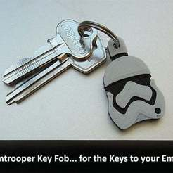 Download free STL file Stormtrooper Key Fob • 3D printing template, Muzz64