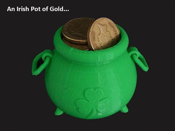 61b83deec8528f4f8bdd73664776d6d1_display_large.jpg Download free STL file Irish Pot of Gold • 3D printing object, Muzz64