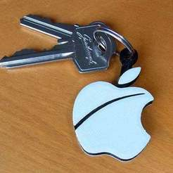 apple-fob_display_large.jpg Télécharger fichier STL gratuit Porte-clés pomme.... Le must have'Apple Logo' en forme de porte-clés pour Apple / iPhone / iPhone / iPad Fans • Design pour imprimante 3D, Muzz64