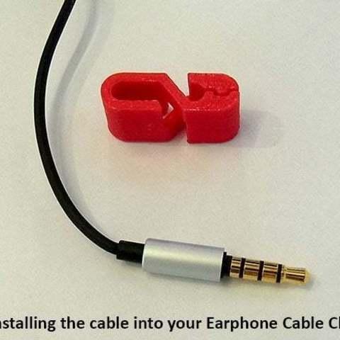 c4517856707d589bc483d6c04823ca61_display_large.jpg Download free STL file Earphone Cable Clip • 3D print design, Muzz64