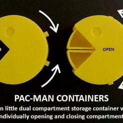 Free STL files Pac-Man Containers, Muzz64