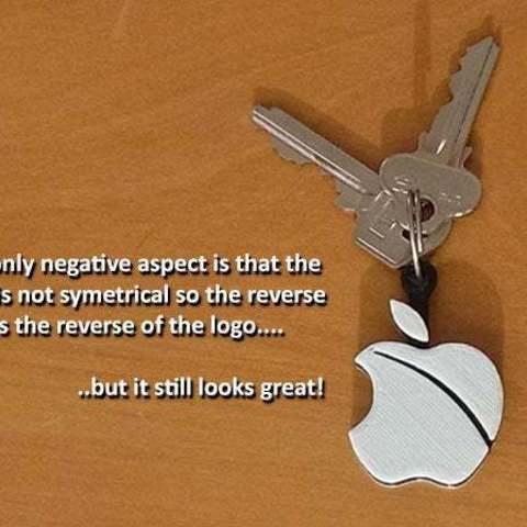reverse_display_large.jpg Télécharger fichier STL gratuit Porte-clés pomme.... Le must have'Apple Logo' en forme de porte-clés pour Apple / iPhone / iPhone / iPad Fans • Design pour imprimante 3D, Muzz64
