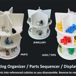 Download free 3D printer files Rotating Organizer / Parts Assembly Sequencer / Display Stand, Muzz64