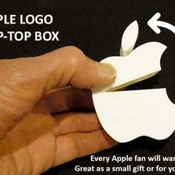 Free 3D printer designs Apple Logo Flip-top Box, Muzz64