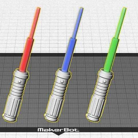 light-sabers_display_large.jpg Download free STL file Light Saber Mini - Every Star Wars fan needs one! • Model to 3D print, Muzz64