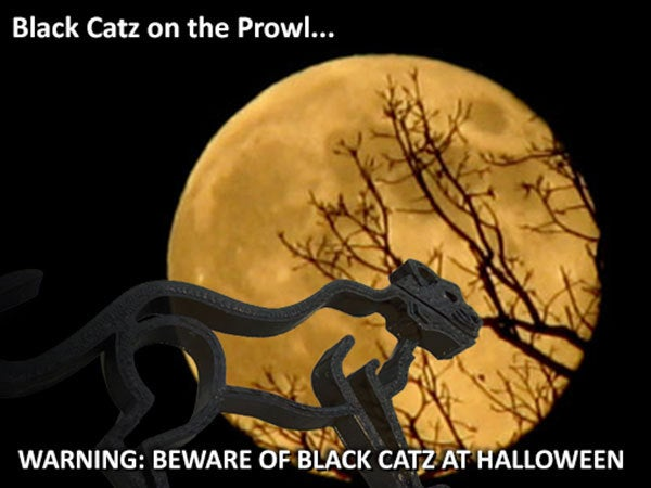 halloween_display_large.jpg Download free STL file Wild Catz... with Jaws that Bite and Growl! • 3D printing object, Muzz64