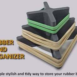Download free 3D printer files Rubber Band Organizer, Muzz64