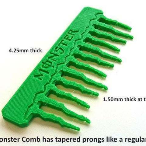 622284914bed4a819a7be0f859ccbbf8_display_large.jpg Download free STL file 'Monster' Comb • Object to 3D print, Muzz64
