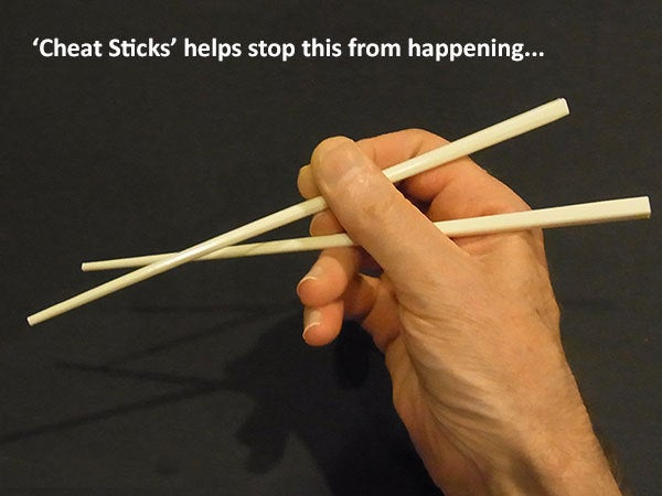 stops_display_large.jpg Download free STL file 'Cheat Sticks' - The easy way to keep your Chop Sticks under control! • 3D printer template, Muzz64