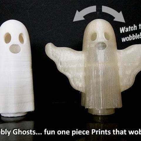 main_display_large.jpg Download free STL file Wobbly Ghosts! • 3D print model, Muzz64