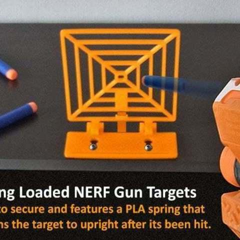 target-main_display_large.jpg Télécharger fichier STL gratuit Cible à ressort pour s'amuser avec le pistolet NERF ! • Modèle pour imprimante 3D, Muzz64