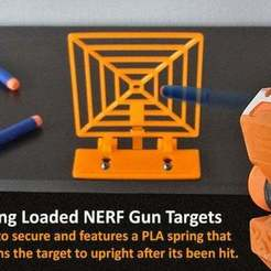 Download free 3D printer templates Spring Loaded Target for NERF Gun Fun!, Muzz64