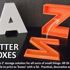 Download free 3D printer designs Letter Boxes, Muzz64