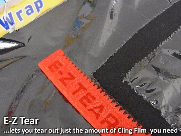 798033e28f6287149ec768c5c2686915_display_large.jpg Download free STL file E-Z Tear - Cling Film Tearing Tool • 3D print template, Muzz64