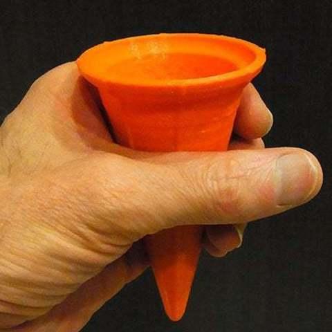 Descargar STL gratis Cono de helado - Igual que un cono normal pero reutilizable!, Muzz64