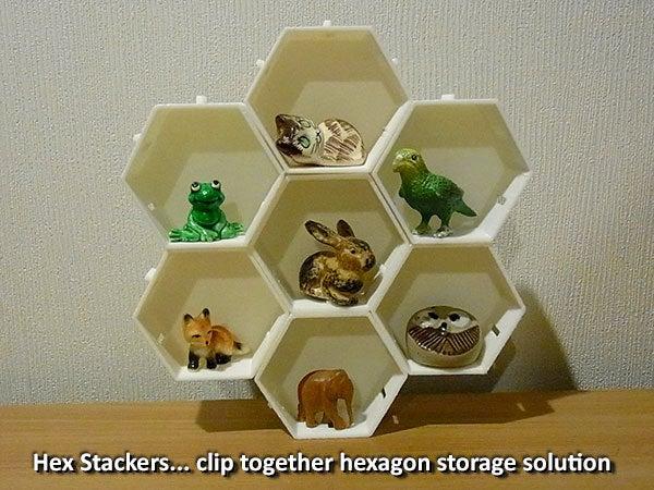 hexstackers_display_large.jpg Télécharger fichier STL gratuit Empileurs hexagonaux • Objet imprimable en 3D, Muzz64