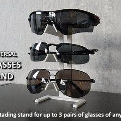 Download free STL file Universal Glasses Stand • 3D print design, Muzz64